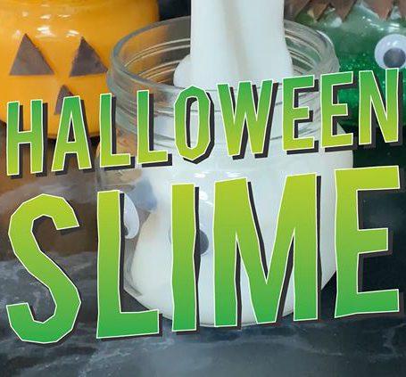 Halloween slime in jars