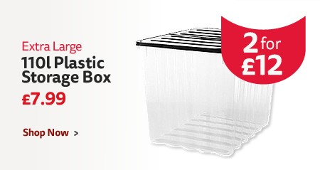 110l plastic storage box 2 for £12