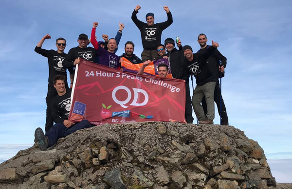 QD 3 Peaks Team on their 24 hour Challenge