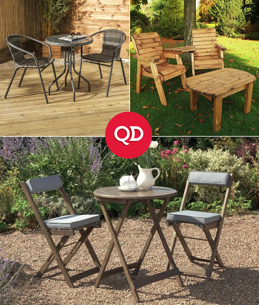Cheap Garden Bistro Sets - Buy Online at QD Stores