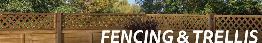 decorative garden fencing and trellis