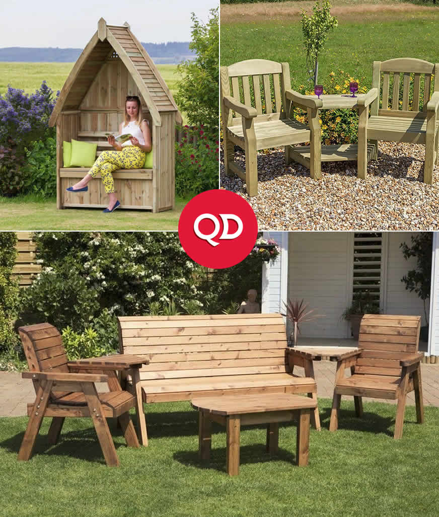 Cheap Garden Benches - Buy Online at QD Stores