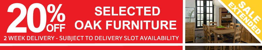 Save 20% Off Selected Oak Furniture