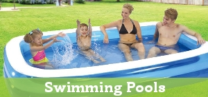 Large selection of garden swimming pools