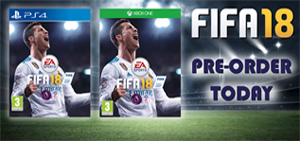 Pre Order EA Sports Fifa 18 for the Ps4 and XBox One at £44.99