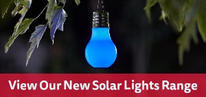 View our new range of solar lights, perfect for the garden