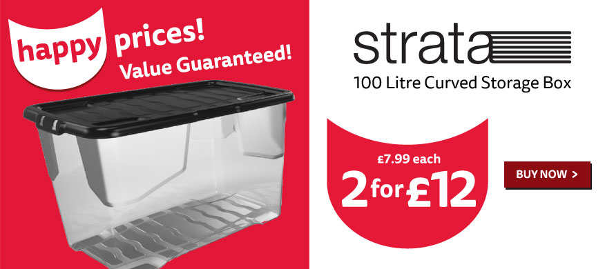 2 for £12 - 100L Curve Box with Lid