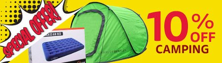 Save Up To 10% OFF Selected Camping Equipment - Online Exclusive Offer