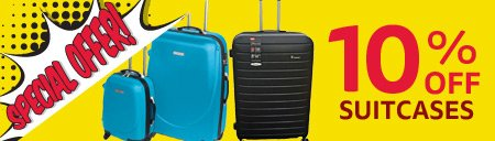 Save Up To 10% OFF Suitcases - Online Exclusive Offer