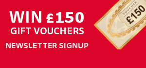 Sign Up To Out Newsletter For A Chance To Win £150 In Gift Vouchers