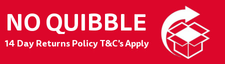 No Quibble 14 Day Returns Policy - T&Cs Apply