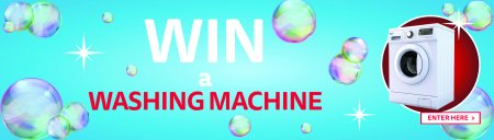 Enter our Win a Washing Machine competition