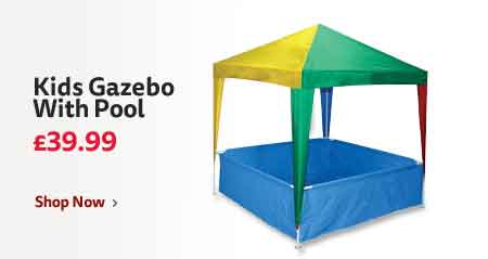 Kids 1.46 x 1.46m Gazebo With Pool £39.99
