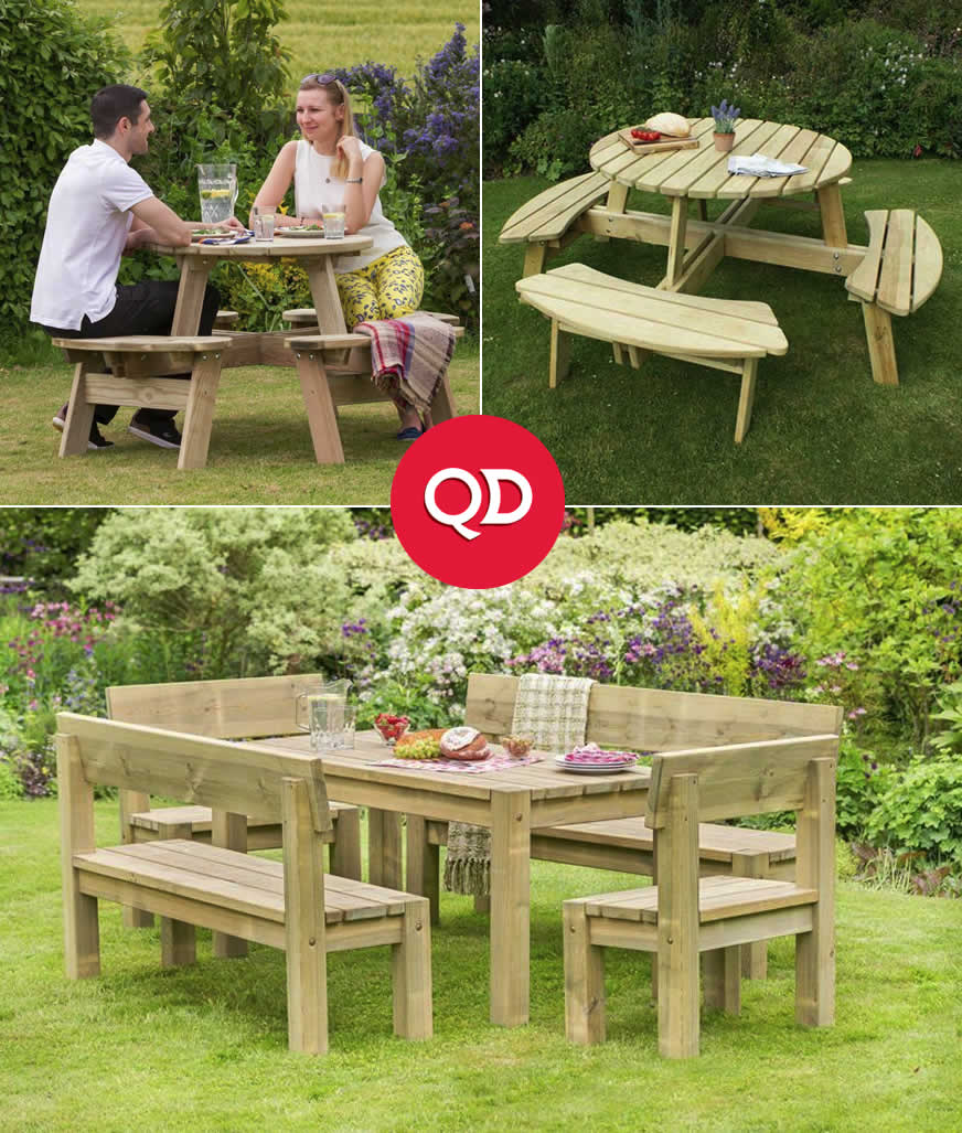 Cheap Garden Picnic Tables - Buy Online at QD Stores