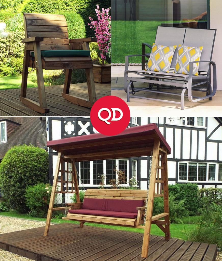 Cheap Garden Reclining Chairs, Sunloungers & Swings - QD Stores