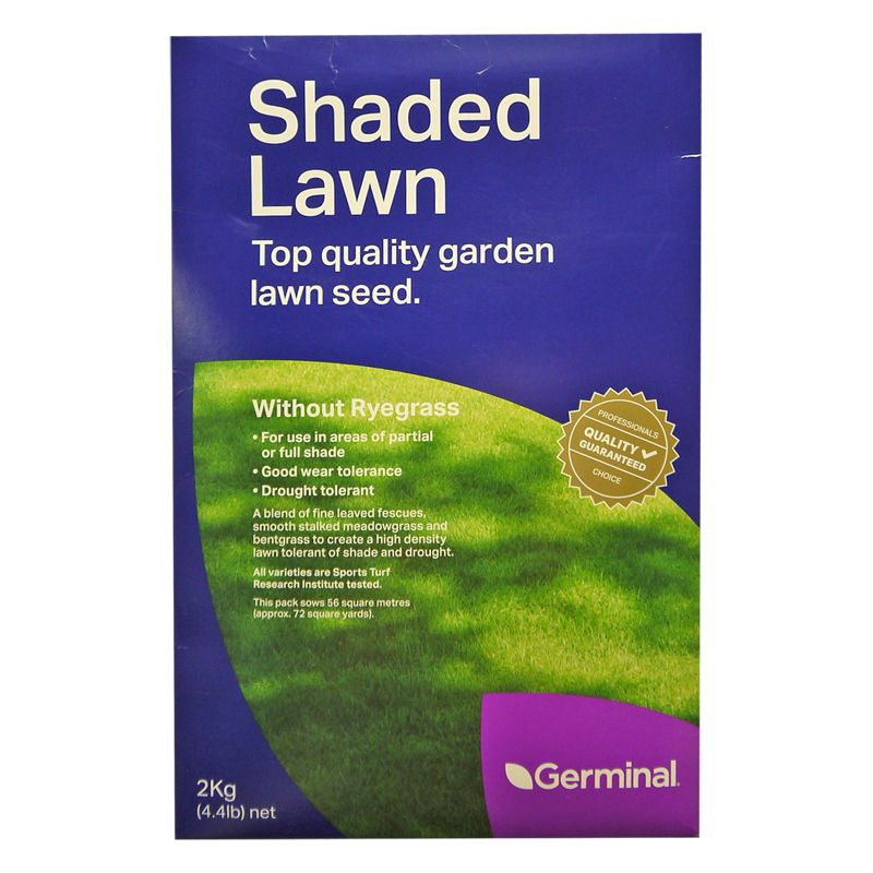 2Kg Shaded Lawn Seed Without Ryegrass 56 Square Metres Coverage