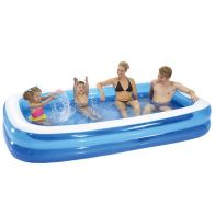 "See more information about the Family Rectangular Pool 103"" Diameter x 20"" High"
