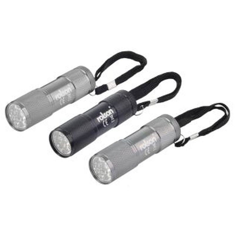 Rolson LED Torch 3 Piece Set