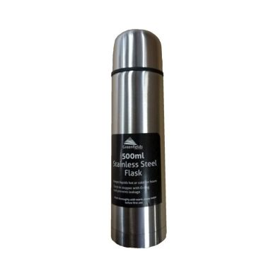 Greenfields Stainless Steel Travel Flask 0.5 Litre