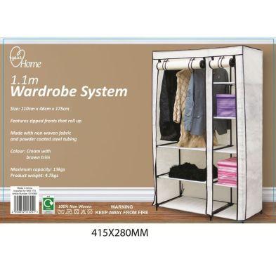 1.1 Metre Wardrobe System