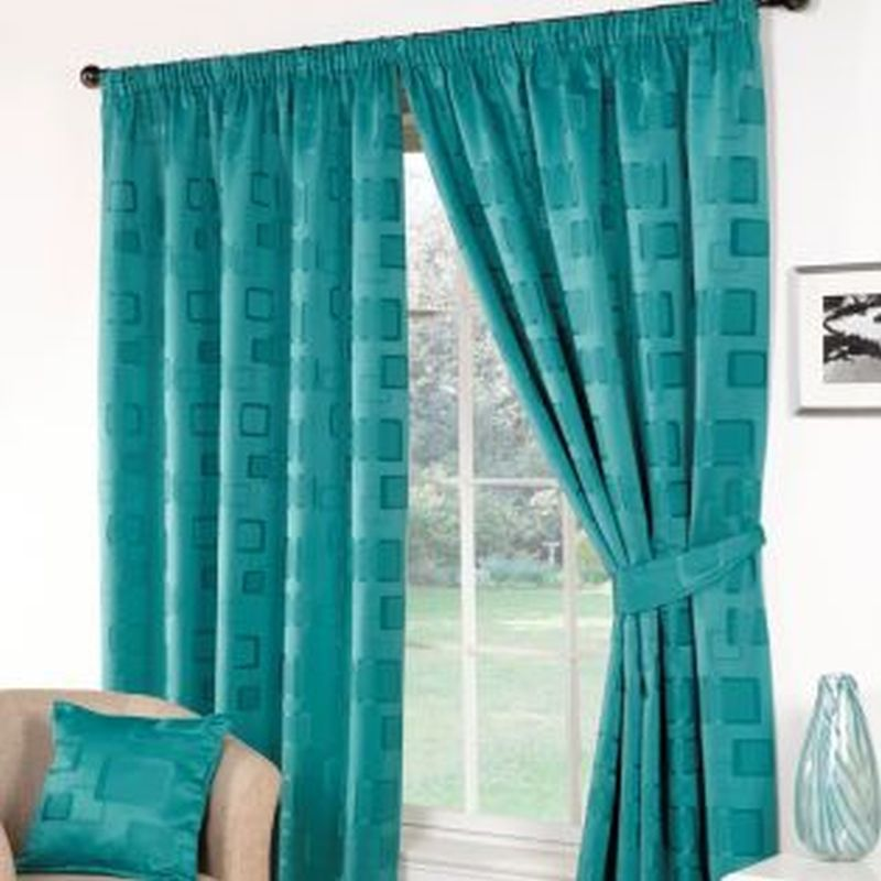 Milano Curtains 66 X 72 Teal Buy Online At Qd Stores
