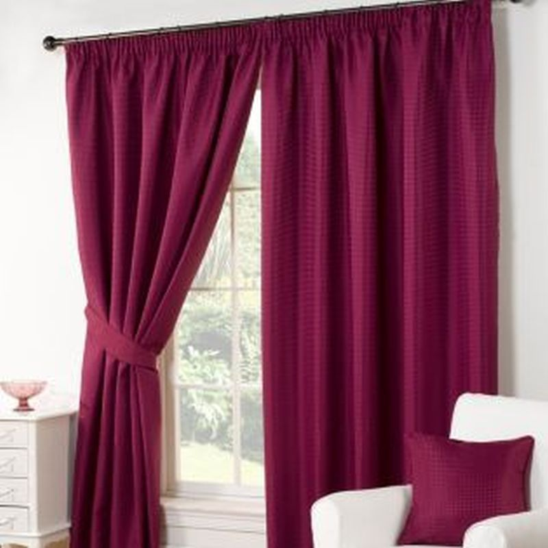 Waffle Curtains 90 Width X 90 Drop Aubergine Buy Online At Qd Stores