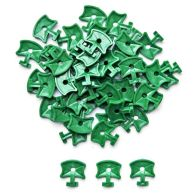 See more information about the 50 Pack Growing Patch Aluminium Greenhouse Plastic Twist Clips Green