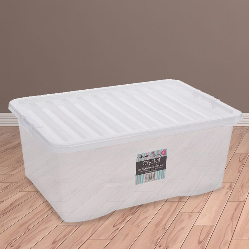 Wham Clear Crystal 45 Litre Storage Box & Lid