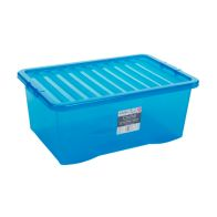 See more information about the 45L Wham Crystal Stacking Plastic Storage Blue Box & Clip Lid