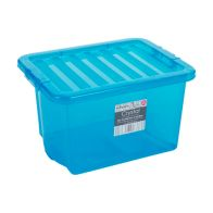 See more information about the 24L Wham Crystal Stacking Plastic Storage Blue Box & Clip Lid