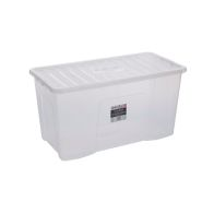 See more information about the 110L Wham Crystal Stacking Storage Clear Box & Clip Lid