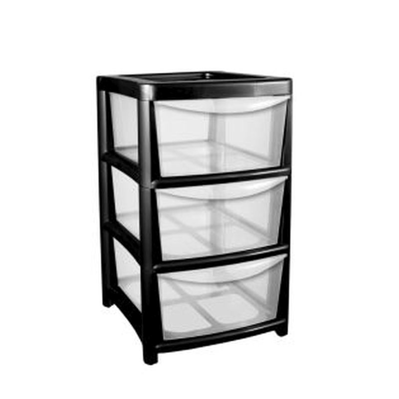 Buy Plastic Storage Tower Unit 3 Drawer Online At QD Stores