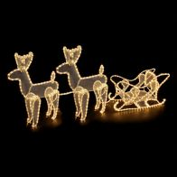 See more information about the Twin Deer & Sleigh Rope Light
