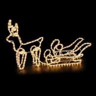 See more information about the Single Deer & Sleigh Rope Light