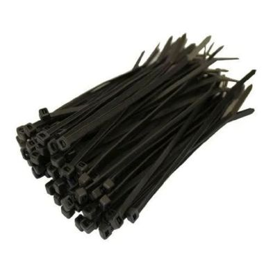 100 Pack 10 Inch Black Cable Ties (3.5mm)