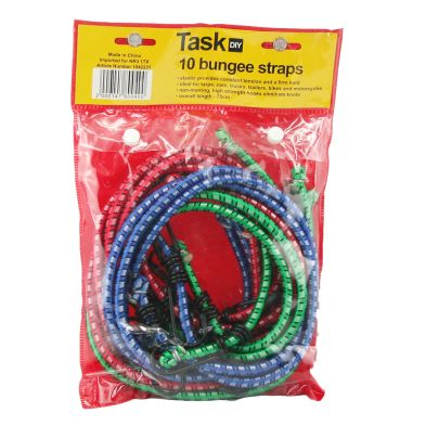 10 Pack Bungee Straps (75cm)