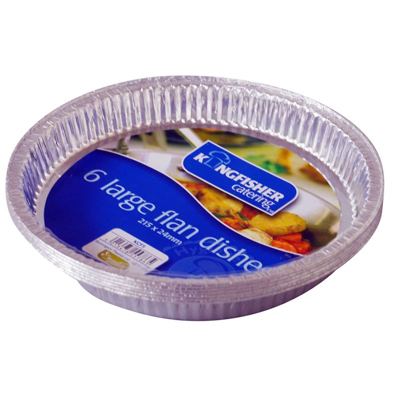 Kingfisher Large Foil Flan Dishes (Pack 6)