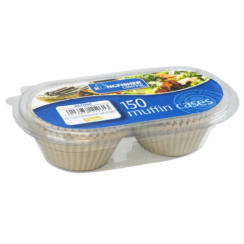 Kingfisher Muffin Cases (Pack 150)