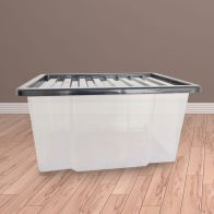 See more information about the 50L TML Stacking Storage Clear Box & Black Lid