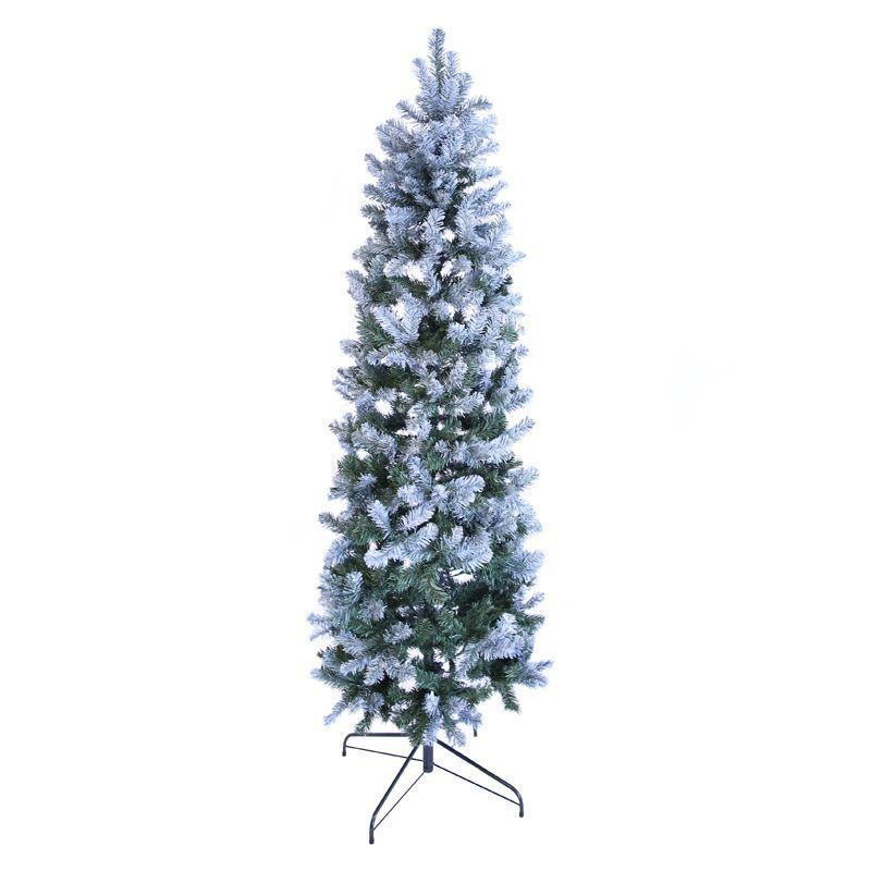210cm (6 Foot 10 inch) Green Allegheny Slim 679 Tips Snowy Tree