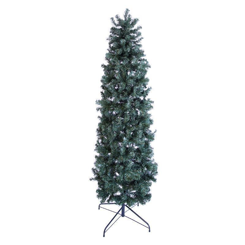 oncor 210cm 7 foot green slim pencil pine 756 tips christmas tree buy online at qd stores. Black Bedroom Furniture Sets. Home Design Ideas