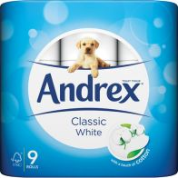 See more information about the Andrex 9 Roll White