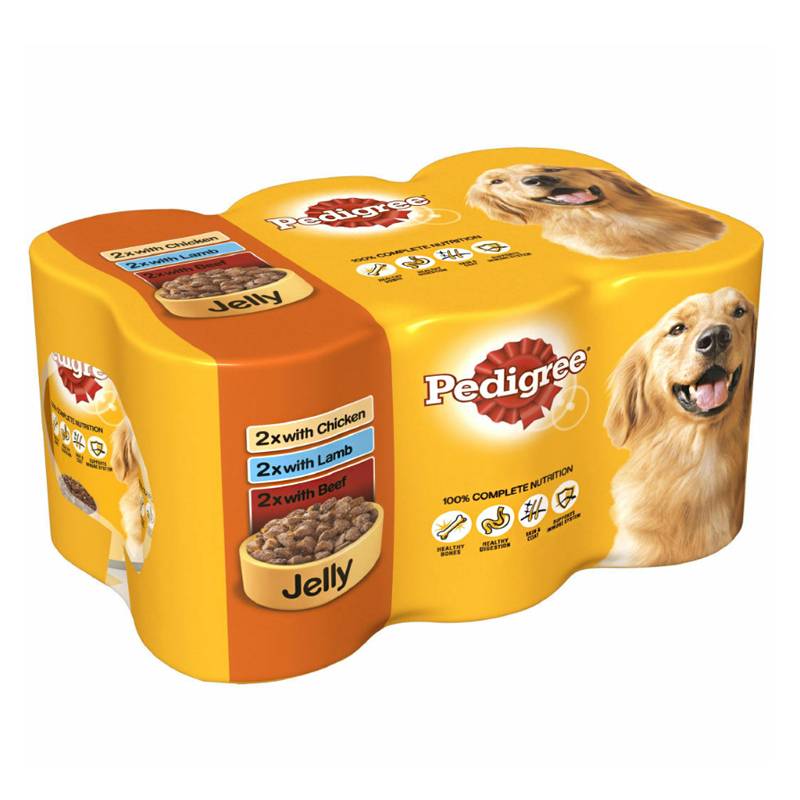 Pedigree Mixed Selection In Jelly Dog Food 6 Pack