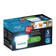 See more information about the Aqua Optima Evolve 30 Day Water Filter 3 Pack (2+1 FREE)