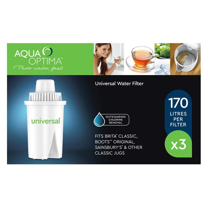 Aqua Optima Universal Water Filter 3 Pack