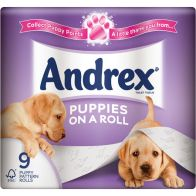 See more information about the Andrex Puppies on a Roll (9 Pack)