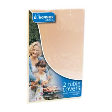 Kingfisher Plastic Tablecloths (Pack 2) - Cream