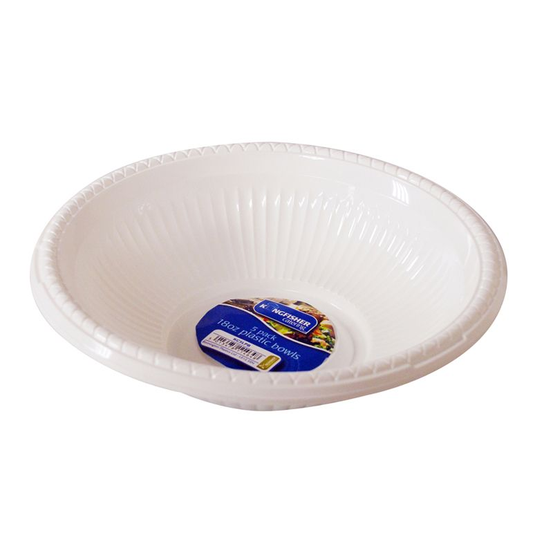 Kingfisher Large Plastic Bowls (Pack 5)