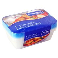 See more information about the Kingfisher Microwave Containers Blue Lids (Pack 5)