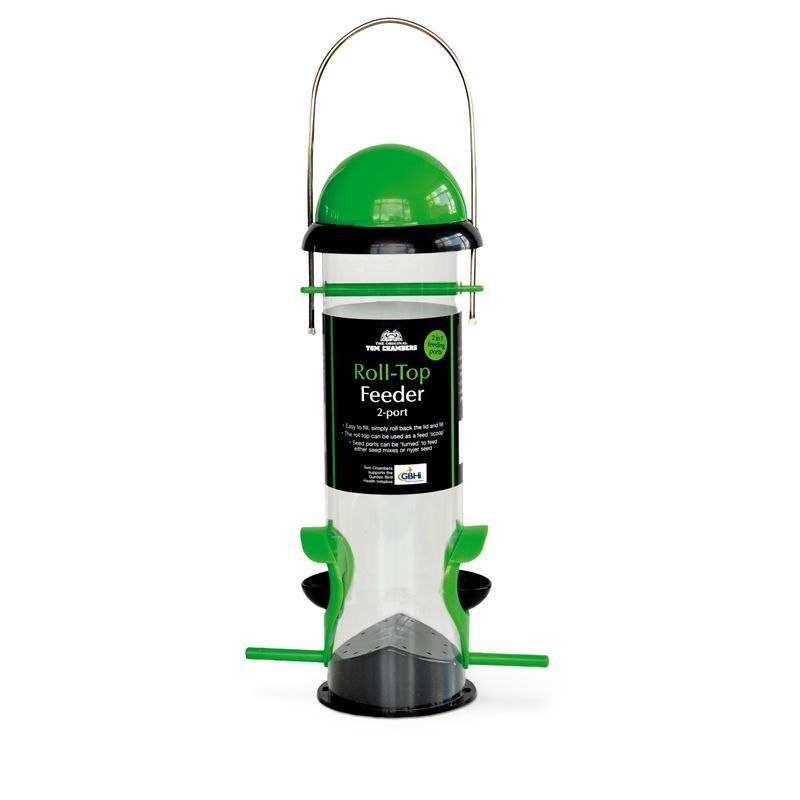 Roll-Top Seed Feeder Green/Black